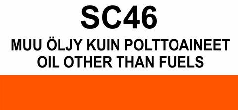 SC46 Muu öljy kuin polttoaineet | Oil other than fuels
