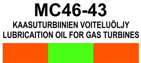 MC46‑43 Kaasuturbiinien voiteluöljy | Lubricaition oil for gas turbines