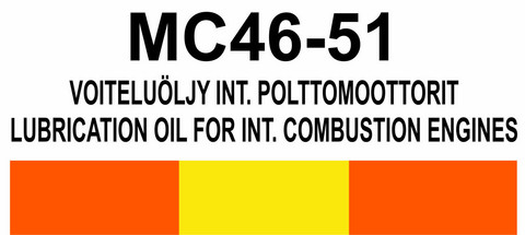 MC46‑51 Voiteluöljy int. polttomoottorit | Lubrication oil for int. combustion engines