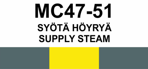MC47‑51 Syötä Höyryä | Supply steam