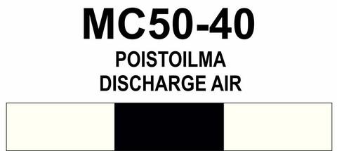 MC50‑40 Poistoilma | Discharge air