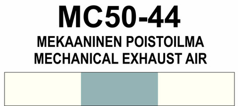 MC50-44 Mekaaninen poistoilma | Mechanical exhaust air