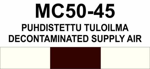 MC50‑45 Puhdistettu tuloilma | Decontaminated supply air
