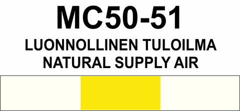 MC50–51 Luonnollinen tuloilma | Natural supply air