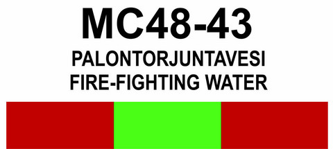 MC48-43 Palontorjuntavesi | Fire-fighting water