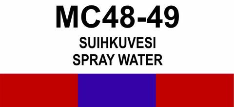 MC48‑49 Suihkuvesi | Spray water