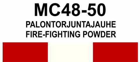 MC48‑50 Palontorjuntajauhe | Fire-fighting powder