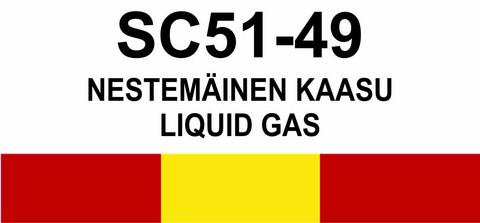 SC51‑49 Nestemäinen kaasu | Liquid gas