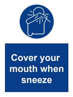 COVID-19 Peitä suu kun aivastat
