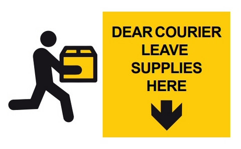 COVID-19 Dear courier leave supplies here