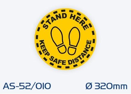 AS-52/010 Luistamaton lattiaopaste ø 320 mm