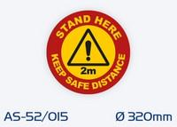 AS-52/015 Luistamaton lattiaopaste ø 320 mm