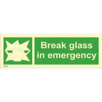 Break glass in emergency available immediately from stock
