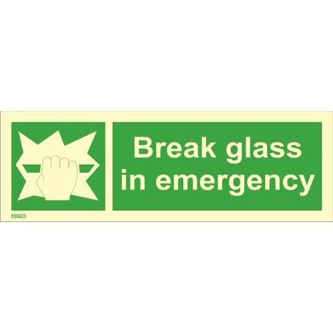 Break glass in emergency available immediately from stock