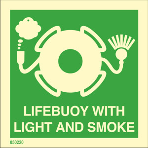 Lifebuoy with light and smoke available immediately from stock