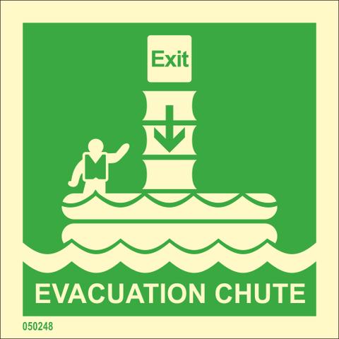 Evacuation chute available immediately from stock