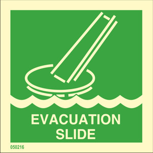 Evacuation slide available immediately from stock