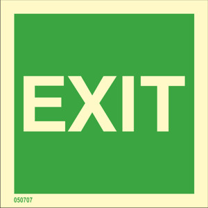 Exit sign available immediately from stock