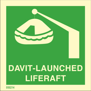 Davit-launched liferaft available immediately from stock