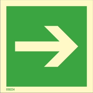 Direction indicator straight available immediately from stock