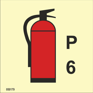 Powder fire extinguisher 6 kg available immediately from stock