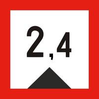 Limited travel depth (meters)