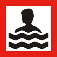 Warning swimming place