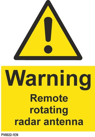Varo! Kaukokäyttöinen puörivä tutka-antenni