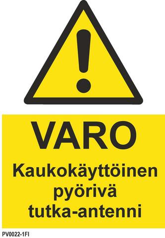 Warning! Remote rotating radar antenna EN