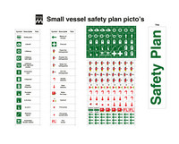 Small vessel safety plan picto's