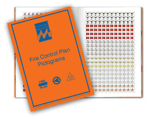 Fire control pictograms to ISO 17631
