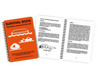 Lifeboat & liferaft survival booklet 170 x 215mm, waterproof plastic.