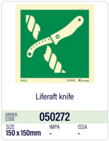 Liferaft knife
