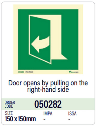 Door opens by pulling on the right-hand side