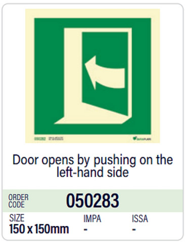 Door opens by pushing on the left-hand side