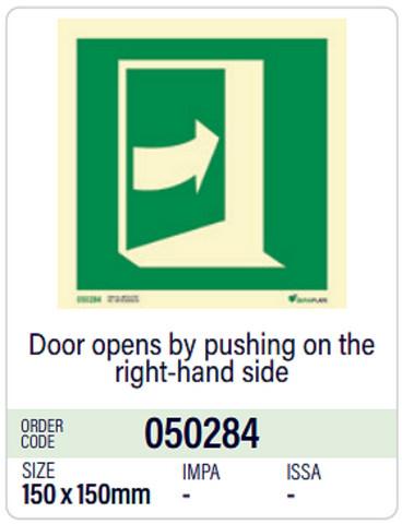 Ovi avautuu työtämällä oikealta puolelta