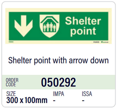 Shelter point with arrow down