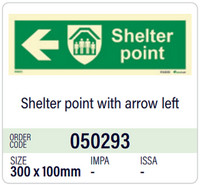 Shelter point with arrow left