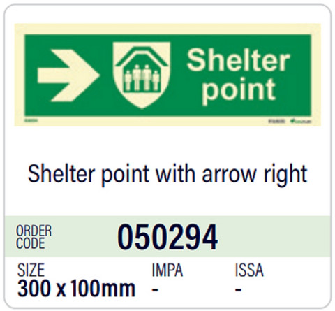 Shelter point with arrow right