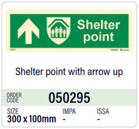 Shelter point with arrow up