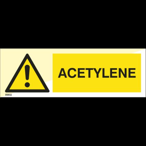 Varoitus Asetyleeni - varastossa