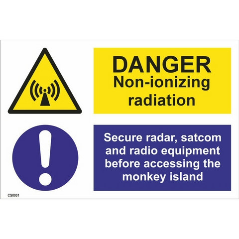 Danger! Non-ionizing radiation - in store