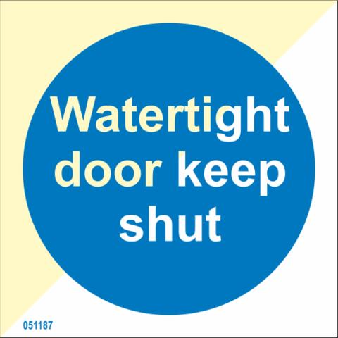 Vedenpitävä ovi pidettävä suljettuna - varastossa
