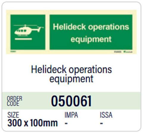 Helideck operations aquipment