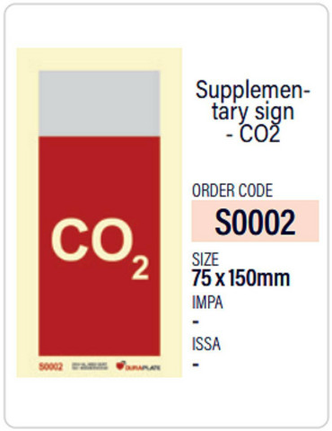 Supplementary sign - CO2