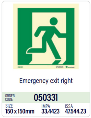 Emergency exit right from stock
