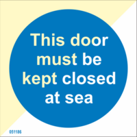 This door must be kept closed at sea, from stock