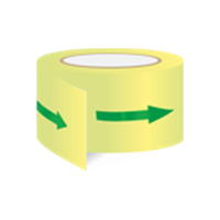 Arrow safety tape photolum. - for marking escape routes from stock
