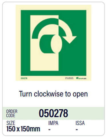 Turn clockwise to open, in stock