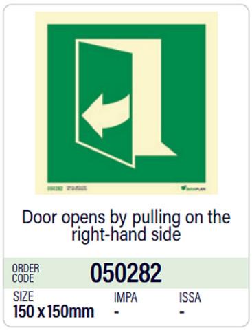 Ovi avautuu oikealta, Dura-Plate, varastossa